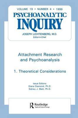Attachment Research and Psychoanalysis: Psychoanalytic Inquiry, 19.4