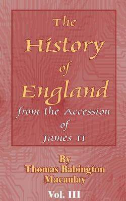 History of England: From the Accession of James II