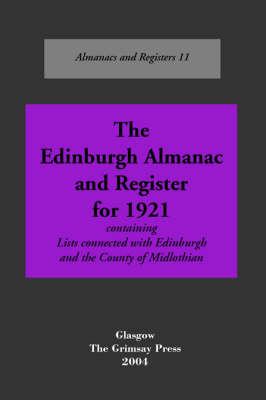 Edinburgh: An Almanac, 1921