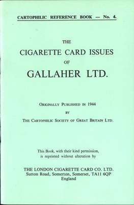 Cigarette Card Issues of Gallaher Ltd.