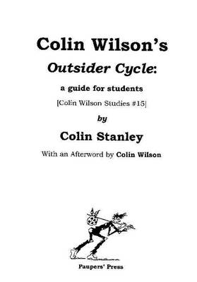 Colin Wilson's 'Outsider Cycle': A Guide for Students