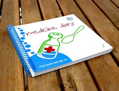 Wipe-able Medicine Diary