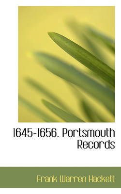 1645-1656. Portsmouth Records