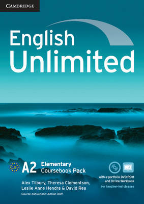 English Unlimited Elementary Coursebook with e-Portfolio and Online Workbook Pack