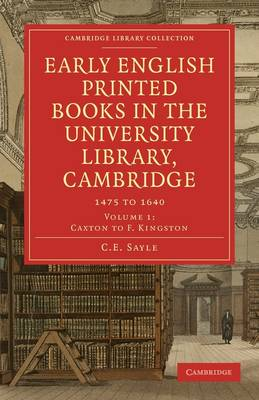 Early English Printed Books in the University Library, Cambridge 4 Volume Paperback Set Early English Printed Books in the University Library, Cambridge: Volume 4: Indexes