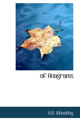 Of Anagrams