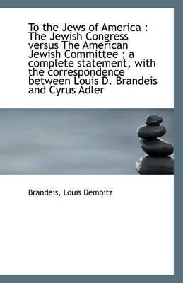 To the Jews of America: The Jewish Congress Versus the American Jewish Committee