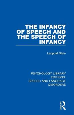 The Infancy of Speech and the Speech of Infancy