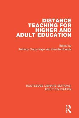 Distance Teaching For Higher and Adult Education