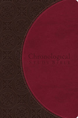 The Chronological Study Bible, NIV - Leather, Brown/Cherry