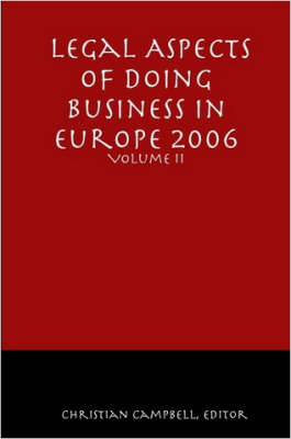 Legal Aspects of Doing Business in Europe - Volume II