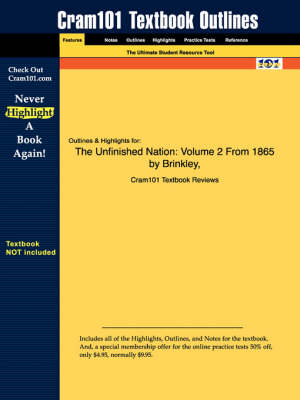 Studyguide for the Unfinished Nation: Volume 2 from 1865 by Brinkley, ISBN 9780072935257