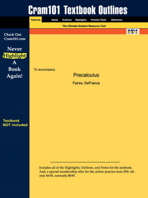 Studyguide for Precalculus by Defranza, Faires &, ISBN 9780534371159