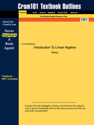 Studyguide for Introduction to Linear Algebra by Strang, ISBN 9780961408893