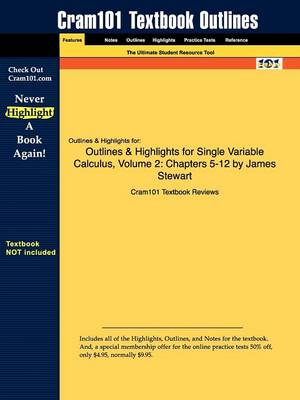 Studyguide for Single Variable Calculus, Volume 2: Chapters 5-12 by Stewart, James, ISBN 9780495384168