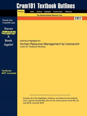 Studyguide for Human Resource Management by Ivancevich, ISBN 9780073137117