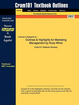 Studyguide for Marketing Management by Winer, Russ, ISBN 9780131963344