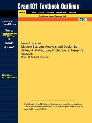 Studyguide for Modern Systems Analysis and Design by Hoffer, Jeffrey A., ISBN 9780132240765