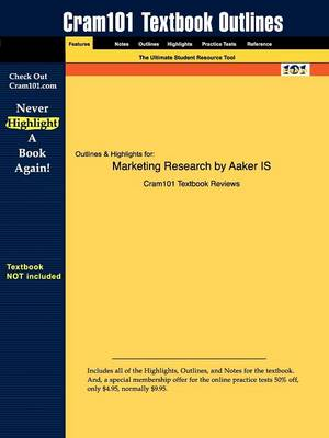 Studyguide for Marketing Research by Aaker, ISBN 9780470050767