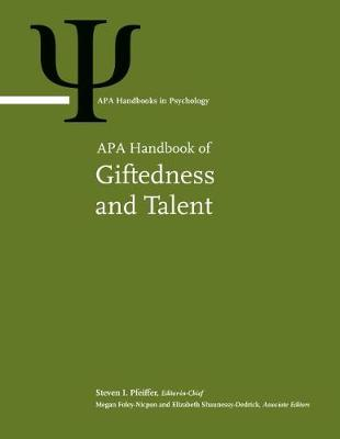 APA Handbook of Giftedness and Talent