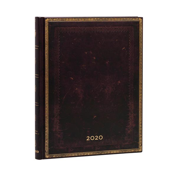 Black Moroccan Ultra 12 Months Weekly Diary 2020