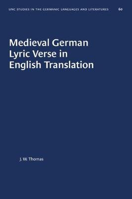 Medieval German Lyric Verse in English Translation