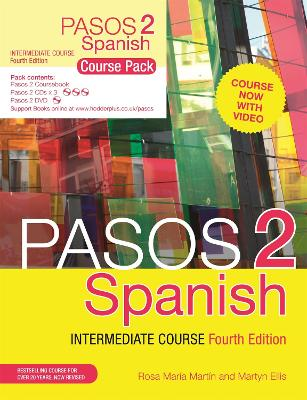 Pasos - Level 2 - course pack (coursebook, 3 CDs, DVD, support books)