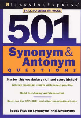 501 Synonym and Antonym Questions