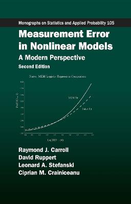 Measurement Error in Nonlinear Models: A Modern Perspective, Second Edition