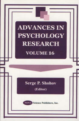 Advances in Psychology Research: Volume 16