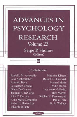 Advances in Psychology Research: Volume 23