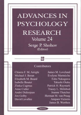 Advances in Psychology Research: Volume 24