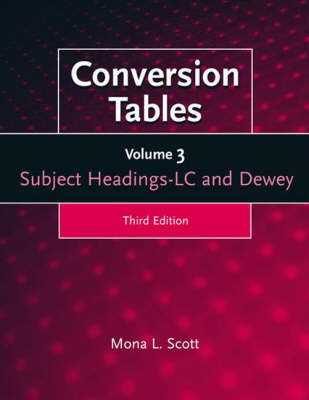 Conversion Tables: Volume Three, Subject Headings LC and Dewey, 3rd Edition