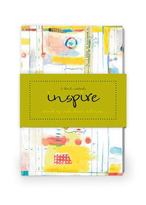 Inspire Artwork by Sarah Ahearn Bellemare Journal Collection 1: Set of Two 64-Page Notebooks
