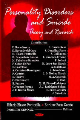Personality Disorders & Suicide: Theory & Research