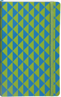 Flexi Ruled Blue Green Op Art Medium