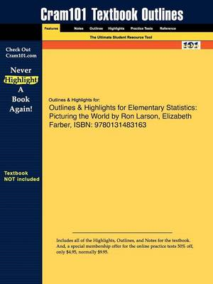 Studyguide for Elementary Statistics: Picturing the World by Larson, Ron, ISBN 9780131483163