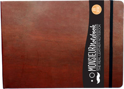 Monsieur Notebook - Real Leather Landscape A4 Brown Dot Grid