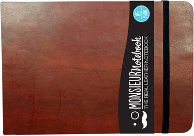 Monsieur Notebook - Real Leather Landscape A5 Brown Plain