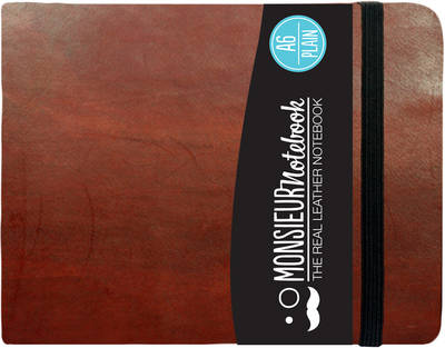 Monsieur Notebook - Real Leather Landscape A6 Brown Plain