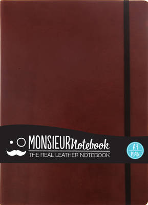 Monsieur Notebook - Real Leather A4 Brown Plain