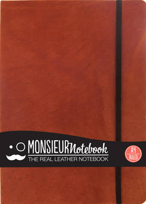 Monsieur Notebook - Real Leather A4 Tan Ruled
