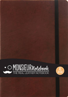 Monsieur Notebook Leather Journal - Brown Dot Grid Medium A5
