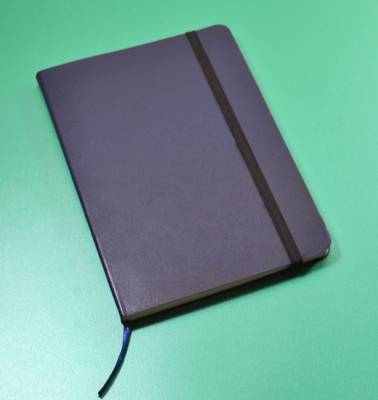 Monsieur Notebook Leather Journal - Navy Sketch Medium A5