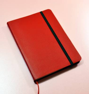 Monsieur Notebook Leather Journal - Red Ruled Medium A5