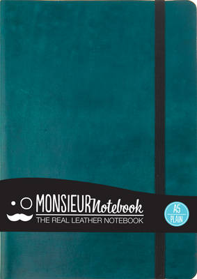 Monsieur Notebook - Real Leather A5 Turquoise Plain