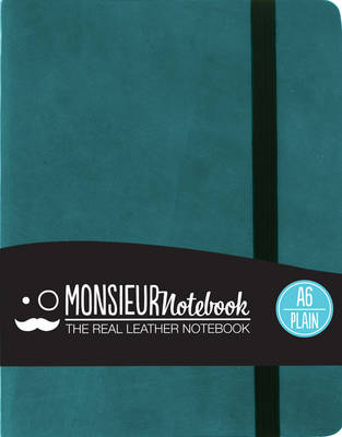 Monsieur Notebook - Real Leather A6 Turquoise Plain