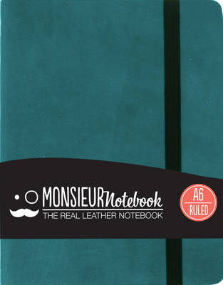 Monsieur Notebook - Real Leather A6 Turquoise Ruled