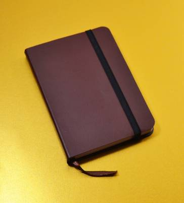 Monsieur Notebook Leather Journal - Brown Dot Grid Small A6