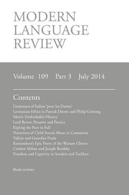 Modern Language Review (109: 3) July 2014